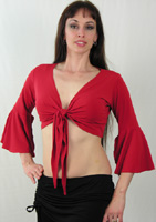 Lycra Gypsy Sleeve Tie Top