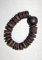 Wooden Disc Stretch Bracelet