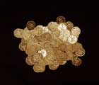 100 Medium Dark Gold Coins