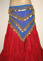 Egyptian Heavy Beaded Triangle Scarf