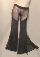 Clearance Mesh/Net Flare Bottom Dance Pants