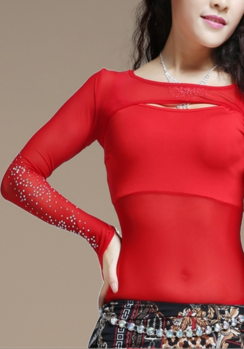 Mesh Shrug/Sleeve with Crystals