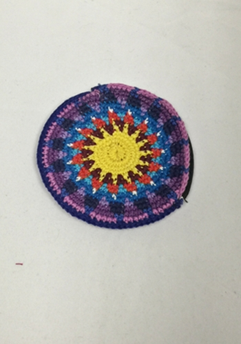 Colorful Handmade Zip Zill Bag/Coin Purse