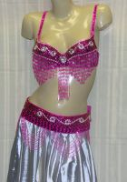 Sequin/Rhinestone Bra & Belt Set