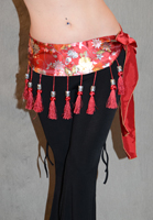 Satin Tassel Belt