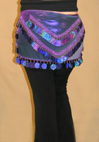 Egyptian Rectangle Scarf w/ Large Paillettes 2