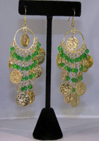 Belly Dance Beaded Dangle Earrings