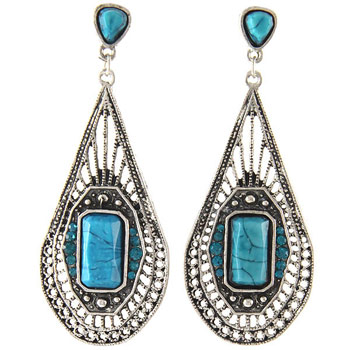 Tribal Earrings Style A Teardrop