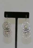 Turkish Metal Spiral Earrings