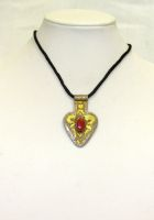 Turkman Sterling/Gold Pendant