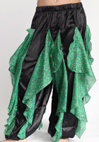 Satin Ruffle Harem Pants