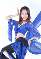 Dance Pants w/ Lace and Matching Top Set