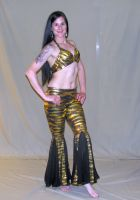 Metallic Black & Gold Pant Set