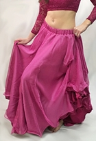 2 Layer Chiffon/Satin Skirt