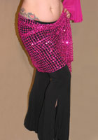 Sequin Net Hip Wrap/Shawl