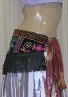 Tribal Suede-Like Fringe Belt