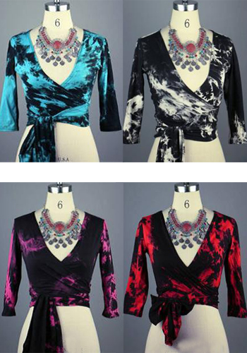 Tie Dyed Cotton Top with Long Ties