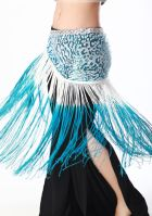 Patterned Sequin Long Fringe Scarf